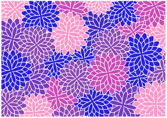 color vector floral wallpaper design