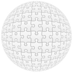 sphère de puzzle, pièces vierges