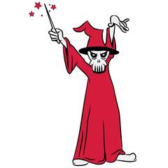 zauberer Zauberstab totenkopf