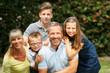 canvas print picture - Glückliche Familie