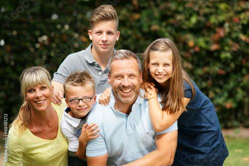 canvas print picture Glückliche Familie