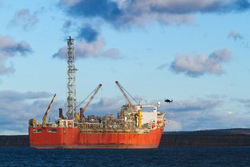 FPSO oil production vessel