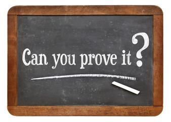 can you prove it question