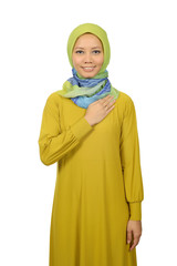 Confident Moslem Woman