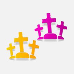 realistic design element: tombstone