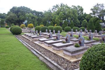 Military cemetery in Dien Bien Phu, Vietnam