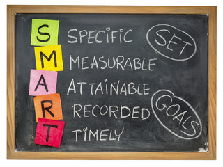 set smart goals on blackboard