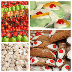 sicilian sweets collage, Palermo,Sicily