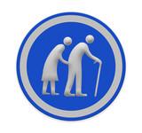 Elderly people sign - 68483841