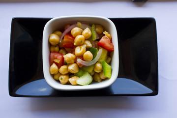Garbanzo Bean Salad. A fresh chickpea salad