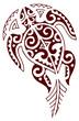 tartaruga maori tribale rosso