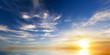 Leinwanddruck Bild - Sky background on sunset.