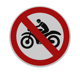 No motorcycle sign, isolated no bikes allowed prohibition zone w - 68484252