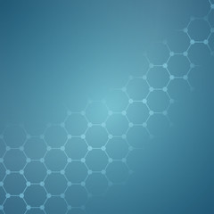 Clean blue background with hive