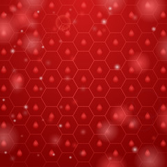 Red hive background