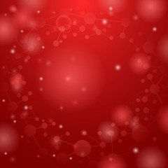 Red molecules background