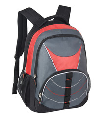 Gray and red Backpack