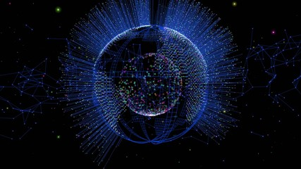 Fiber Optics and Earth Globe
