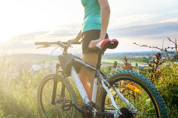 Mountain bike woman