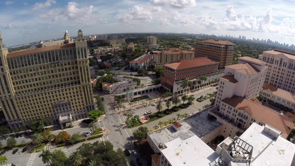 Aerial video footage Coral Gables FL