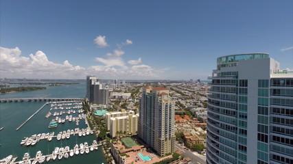 Aerial Miami Beach Marina