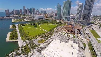 Aerial video Museum Park Miami