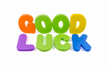 good luck words colorful