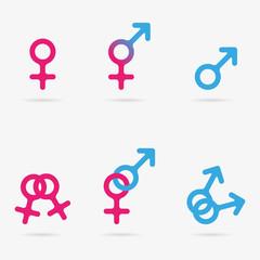 Sex symbol icons