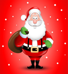 Smiling Cartoon Santa Claus illustration greeting