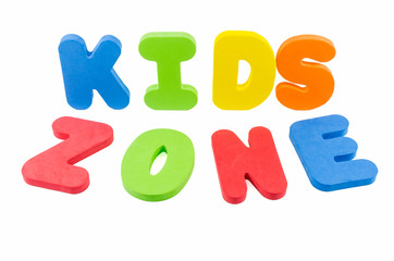 The words 'kids zone'
