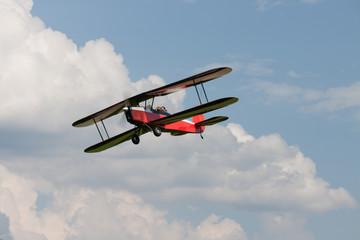 Doppeldecker - Modelldoppeldecker - Flugzeug
