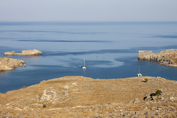 The Bay of Lindos, Rhodes, Greece