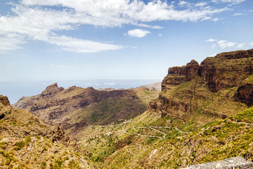 Tenerife island landscape near Masca village