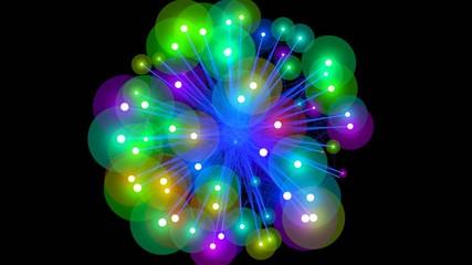 Dancing orbs of energy