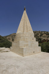 Yezidi tower in Lalish, Iraq