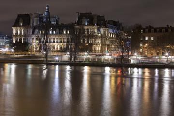 Sena river in the night on Paris