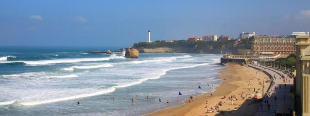 Côte basque à Biarritz, France