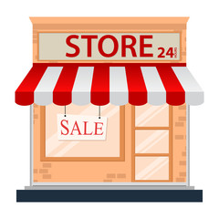 Store icon isolated on white