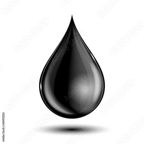 Vector illustration of black drop - 68492826