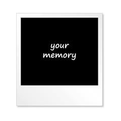 Polaroid - Foto auf weißem Hintergrund