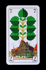 Spielkarten und Denkmäler  - Grün Sieben - Hildesheim
