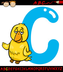 letter c for canary cartoon illustration
