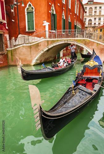 Romantic gondolas on canal in Venice, Italy - 68493828