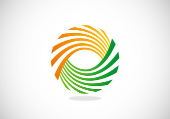 swirl double yin yang vector logo