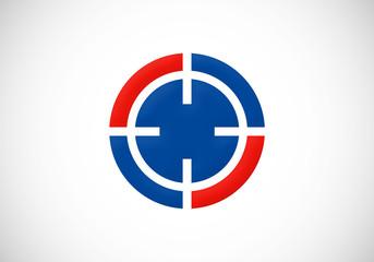 target round circle vector logo