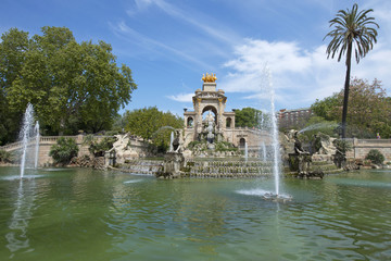Fuente el Parc de la Ciutadella, Barcelona, España