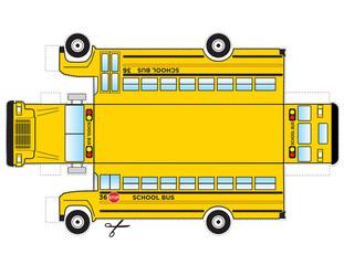 School Bus Cutout