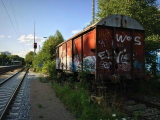 Wagon auf dem Abstellgleis