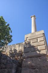 Column of the acropolis of Lindos, Rhodes, Greece