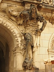 Statue of teutonic knight in the Dresden, Germany